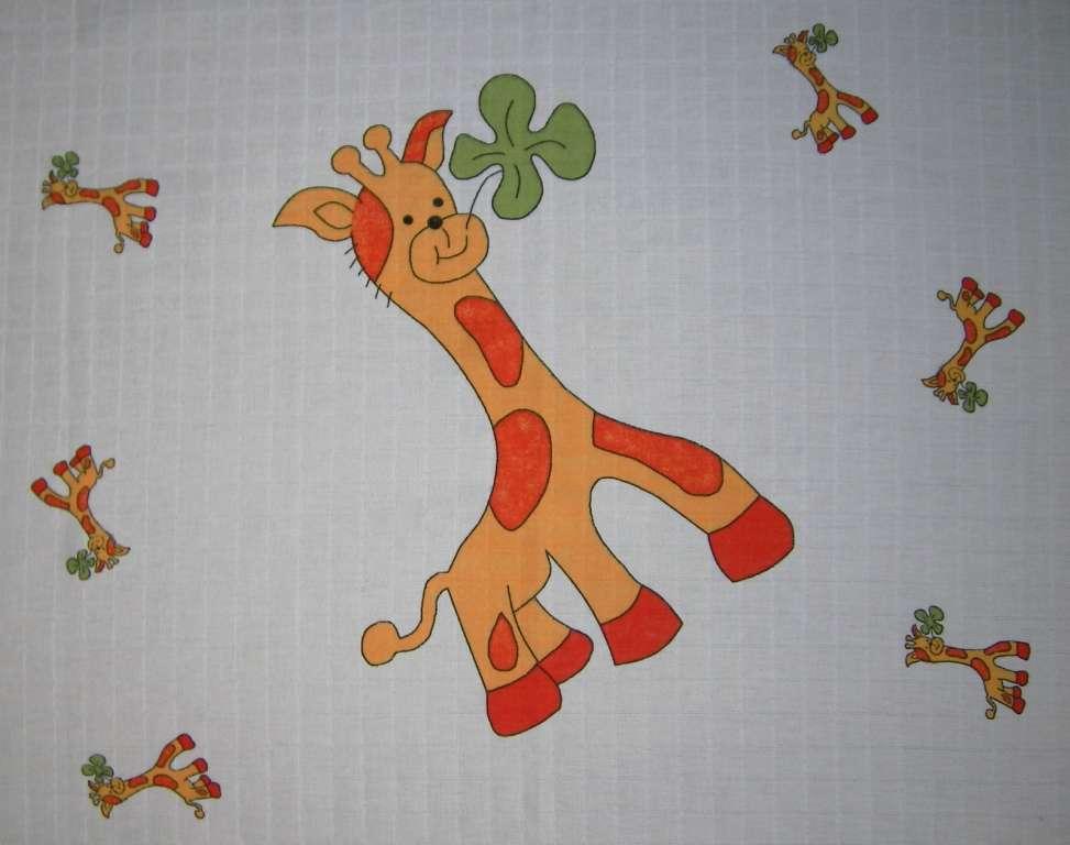 Látková osuška, klasická osuška, bavlněná osuška, český výrobce - Velká žirafka 33 cm LTZ Libštát s.r.o.