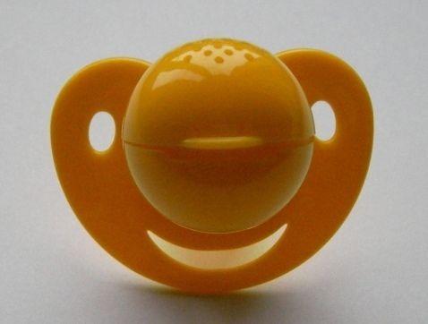 Inhalační šidítko BRONCHI od 6. měsíců - žlutá Baby Frank - NSR