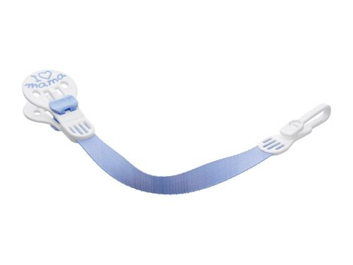 Šnůrka na šidítko s klipsou - plast+textil Bibi - Švýcarsko