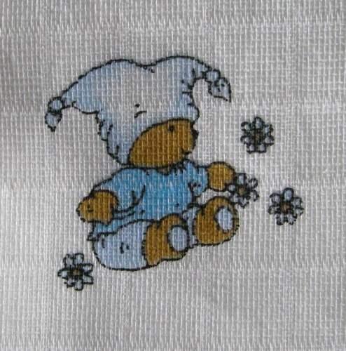 Látková osuška, klasická osuška, bavlněná osuška, český výrobce - Medvídek v modrém LTZ Libštát s.r.o.