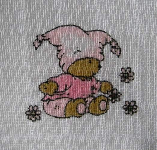 Látková osuška, klasická osuška, bavlněná osuška, český výrobce - Medvídek v růžovém LTZ Libštát s.r.o.